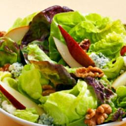 Butter Lettuce Salad with Pears, Gorgonzola, Walnuts and Balsamic Vinaigret
