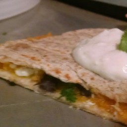 Butternut Squash, Black Bean, and Feta Quesadillas