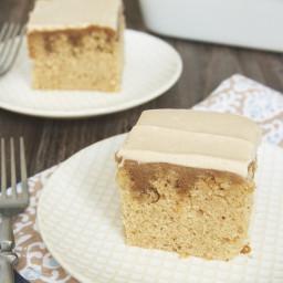 Butterscotch Spice Poke Cake