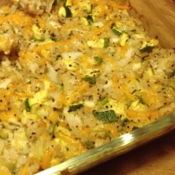 Buttery Zucchini and Rice Casserole
