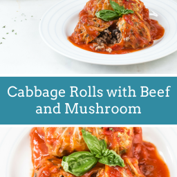 Cabbage Roll with Beef and Mushroom