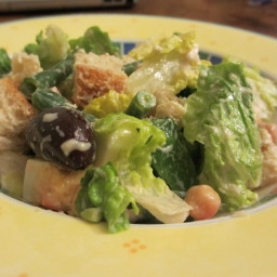 Caesar Salad with Healthy, Low Fat,  Egg free dressing