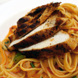 Cajun Blackened Chicken & Pasta - Linguini con Pollo Negro