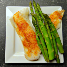 Cajun Spice Tilapia and Asparagus (DailyBurn Ignite)
