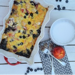 Cake Mix Fresh Fruit Cobbler!