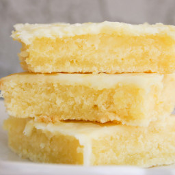 "Bakergirl Cakey Lemon Bar ""Brownies"""