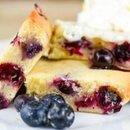 Cakey Lemon Blueberry Brownies