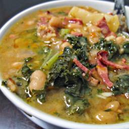 Caldo Gallego (Spanish White Bean Soup)