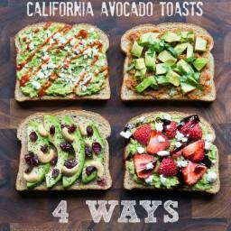 California Avocado Toasts – 4 Ways
