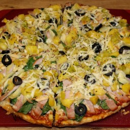 Canadian Bacon & Pineapple Pizza