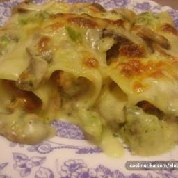 Cannelloni sa mljevenim mesom u sosu od gljiva i brokola