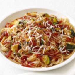 Capellini With Spicy Zucchini-Tomato Sauce