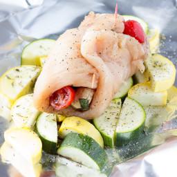 Caprese Stuffed Chicken Foil Packs Recipe