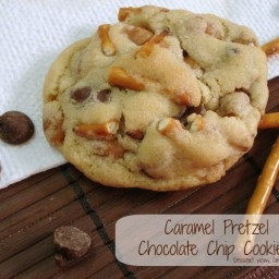 Caramel Pretzel Chocolate Chip Cookies