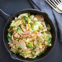 Caramelized Brussels Sprouts with Lime and Crispy Shallots