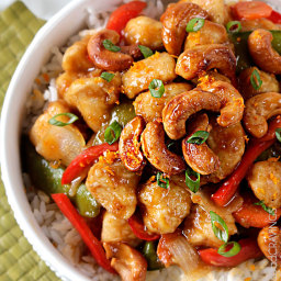 Caramelized Cashew Chicken Stir Fry