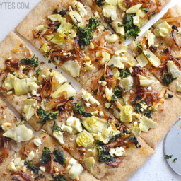 Caramelized Onion and Artichoke Flatbread