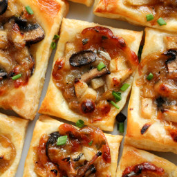 Caramelized Onion, Mushroom, Apple and Gruyere Bites