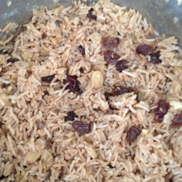 Cardamom and Currant Indian Rice