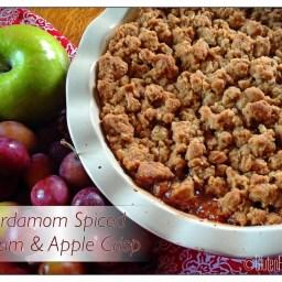 Cardamom Spiced Plum and Apple Crisp ~ Gluten Free