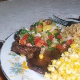 Caribbean Pork with Pineapple Salsa