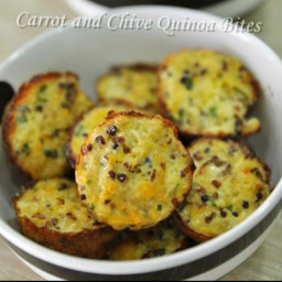 Carrot and Chives Quinoa Bites