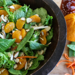carrot ginger and orange salad