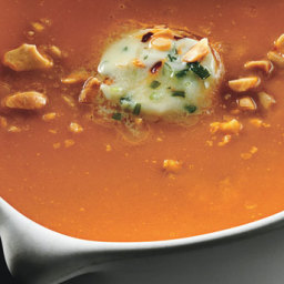 Carrot-Ginger Soup with Chile Butter and Roasted Peanuts