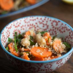 Carrot, Quinoa and Pistachio Salad