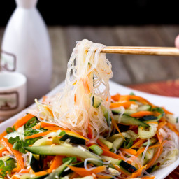Carrot, Cucumber and Glass Noodle Salad