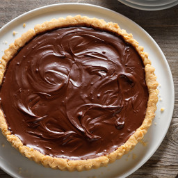Cashew Tart with Chocolate Pie Filling