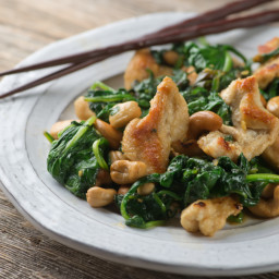 Cashew Chicken with Spinach