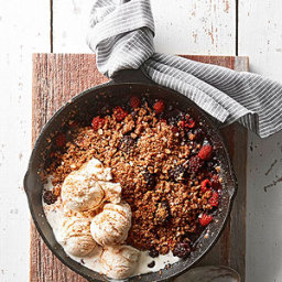 Cast-Iron Mixed Berry Crisp