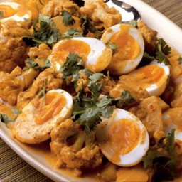 Cauliflower, egg and potato curry