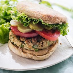 Cauliflower Falafel Veggie Burgers