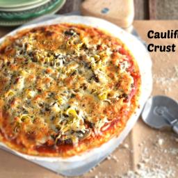 Cauliflower Crust Pizza Recipe-Low Carb