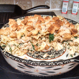 Caesar salad casserole