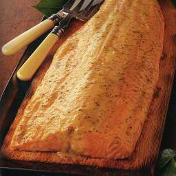 Cedar-Planked Salmon with Honey-Lime Dressing