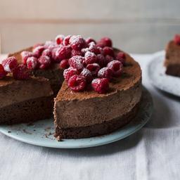 Celebration chocolate mousse cake