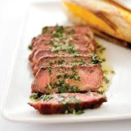 Charcoal-Grilled Argentine Steaks with Chimichurri Sauce