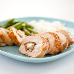 Charcoal-Grilled Stuffed Chicken Breasts with Prosciutto and Fontina