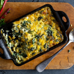 Chard and Sweet Corn Gratin