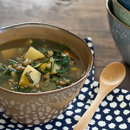 Chard, Lentil & Potato Slow Cooker Soup