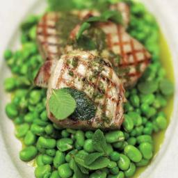 Chargrilled tuna with oregano oil & beautifully dressed peas & broad beans