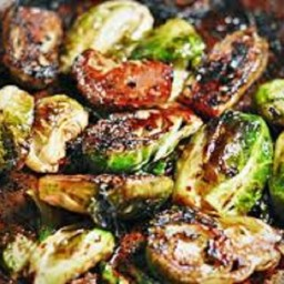Charred Brussell Sprouts with Balsamic Reduction