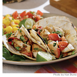 Charred Tomato and Chicken Tacos Recipe
