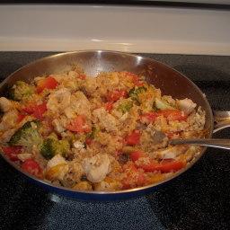 Cheddar Chicken & Rice Skillet