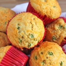 Cheddar-Scallion Muffins