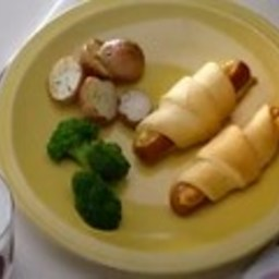 Cheese and Weiner Crescents