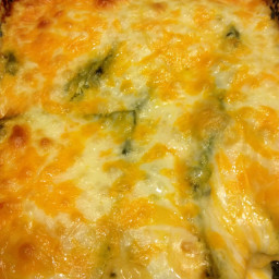Cheese Enchiladas with Green Chili Sour Cream Sauce